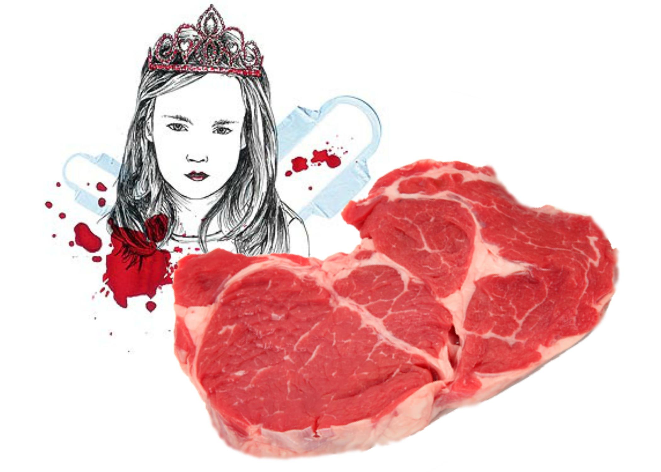 niña menstruacion carne