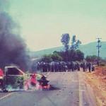 Aureoles reprime a normalistas en Tiripetío, Michoacán