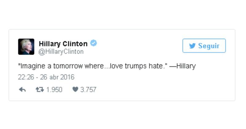 Hillary Clinton twittea en campaña frase de Cristina Fernández de Kirchner