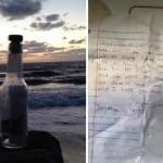 Encuentra botella en el mar y descubre conmovedor mensaje