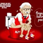 Encuentran heces fecales en hielo de KFC