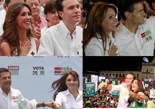 """Manuel Velasco inicia """"campaña"""" a lado de Anahí, al estilo Peña-Rivera"""