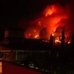 Incendio en Tepoztlán se aviva
