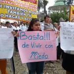 """""""Basta de vivir con miedo"""": marchan contra la inseguridad en Cuetzalan, Puebla"""