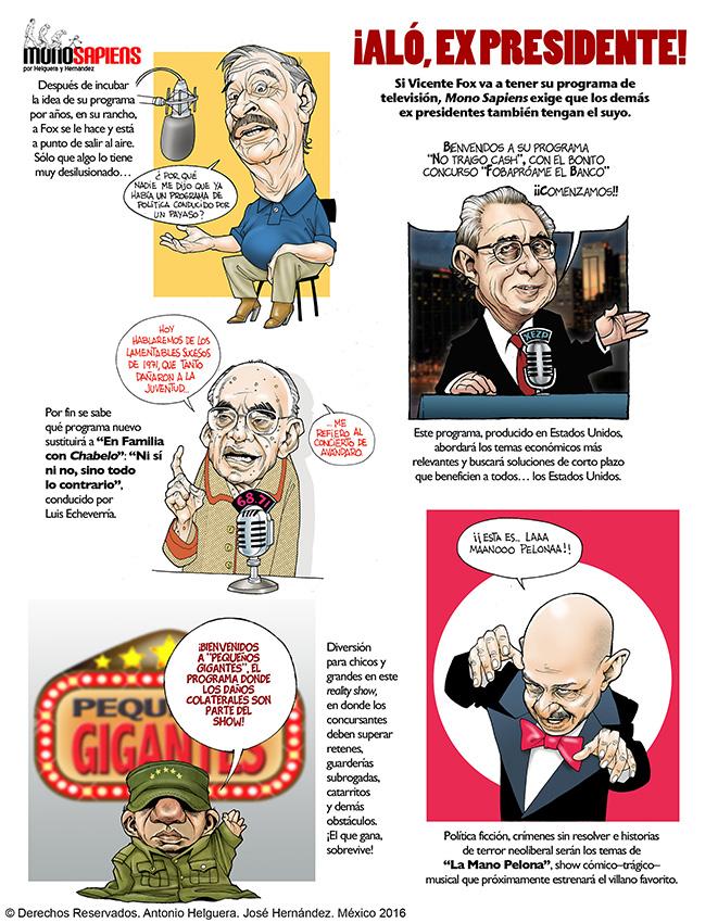 ¡Aló, expresidentes! (Cartón de Helguera y Hernández)