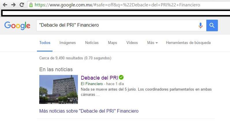 debacle del pri financiero cache google