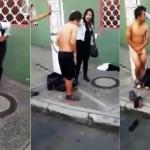 Mujer, desnuda y enfrenta a ladrón +Video