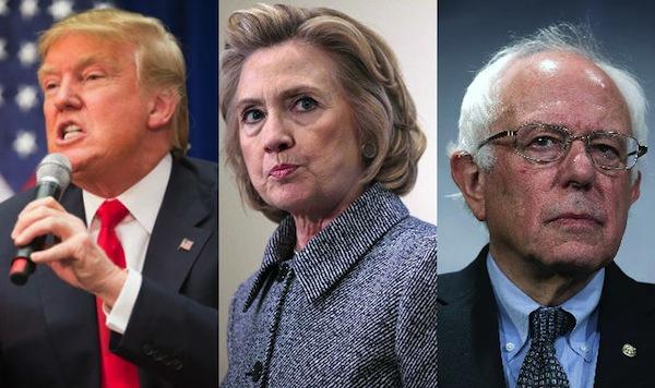 Trump y Clinton empatados, sólo Sanders vencería al republicano