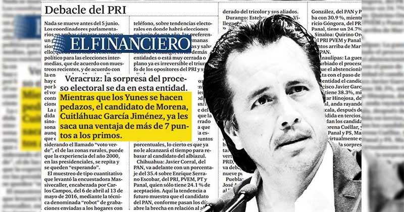 financiero censura encuesta ventaja morena veracruz cuitlahuac