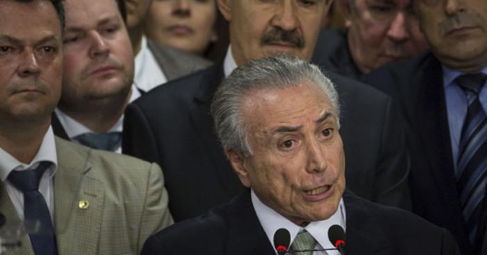 Policía brasileña tiene pruebas de que el presidente recibió sobornos por ayudar a empresas