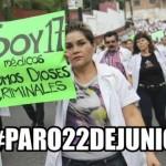 Médicos convocan paro nacional contra la universalización del sistema