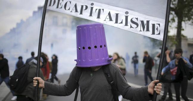 sindicatos franceses boicot eurocopa manifestación capitalismo