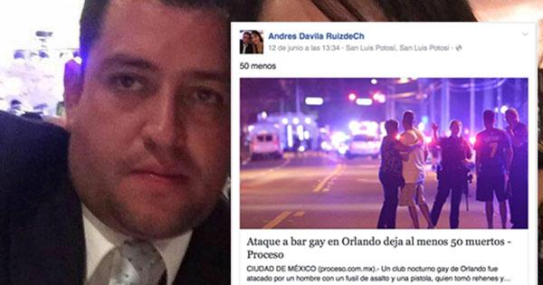 Tres menos: otro funcionario cesado por comentarios homofóbicos sobre Orlando