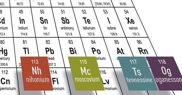 Nuevos elementos químicos ya tienen nombre