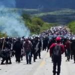 Llegan máspolicíasfederales a otro enfrentamiento en Huitzo Oaxaca