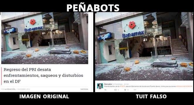 """""""Peñabots"""" se lanzan contra maestros; difunden imágenes falsas"""