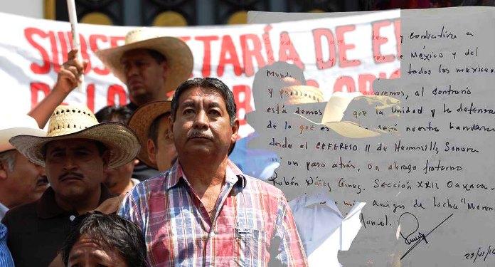 Rubén Núñez se presentó al diálogo en Segob