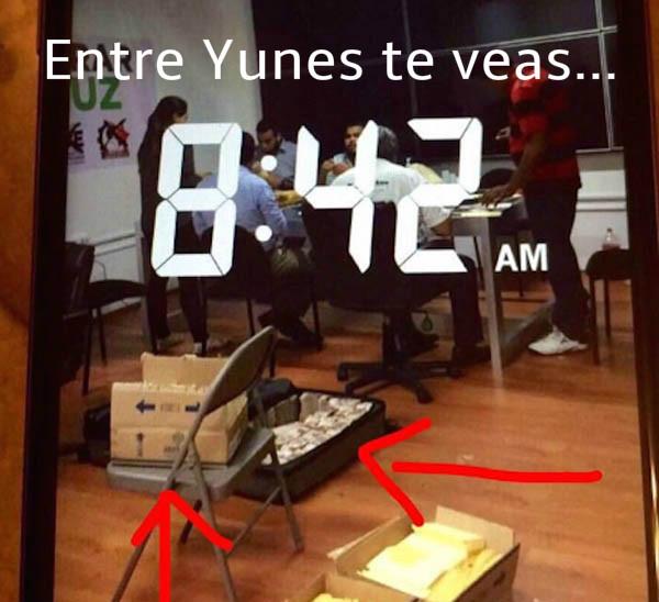 Exhiben a secretaria particular de Héctor Yunes del PRI alistándose para la compra de votos