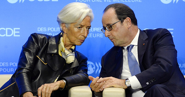Christine Lagarde hollande francia fmi