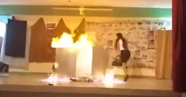 Dos menores se incendian durante una obra de teatro (Video)