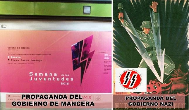 Gobierno de Mancera usa las SS de Hitler para evento de jóvenes