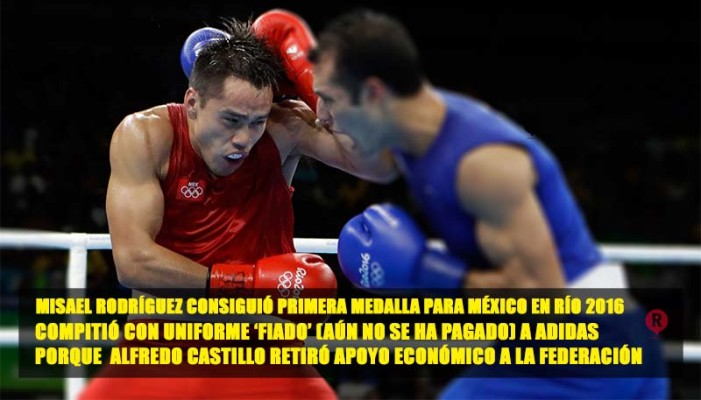 Misael Rodríguez usa uniforme prestado, quitaron apoyo a Federación de Box