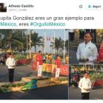 Indigna en redes felicitaciones de Alfredo Castillo a Lupita González