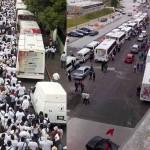Morelenses en caravana a la Cd. de México exigen destitución de Graco Ramírez