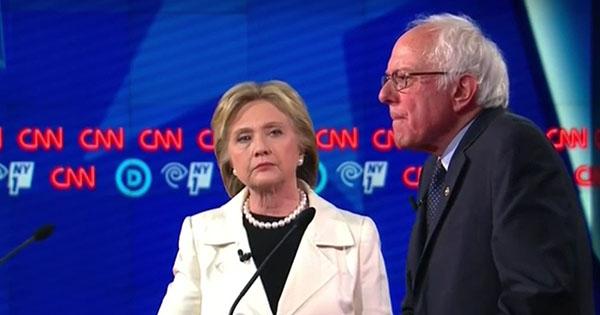 Hillary Clinton recibió antes preguntas de debate frente a Bernie Sanders