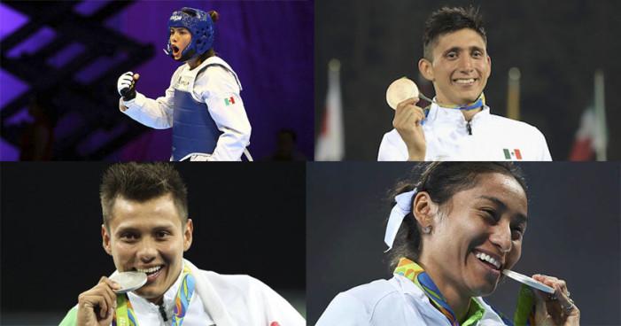 Cuatro de los medallistas mexicanos están en el ejército
