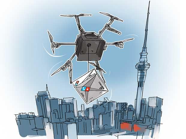 Nueva Zelanda recibirá pizzas con drones (video)