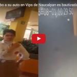 Ladrones fuerzan puerta de auto en Vips, mientras su dueña comía