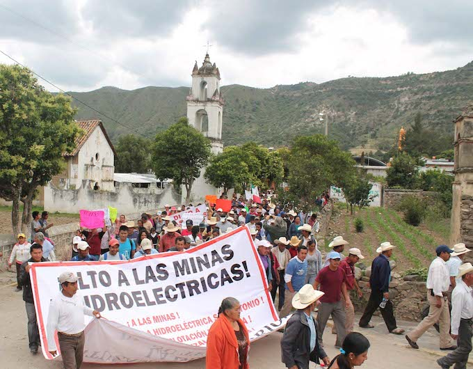 Hidroeléctrica y minera violan derecho humano al agua en la Sierra Norte