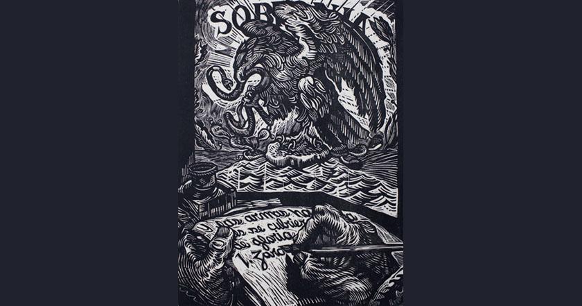 Grito de todos, por Pedro Miguel grabado méxico símbolos patrios