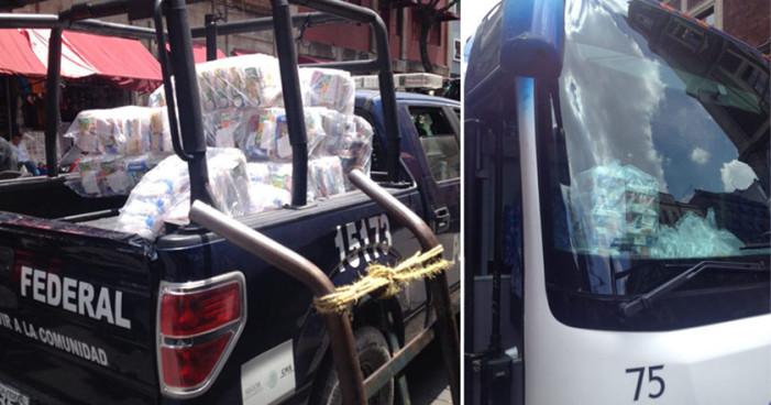 Miles de acarreados del Edomex rumbo al Zócalo para el Grito de Peña