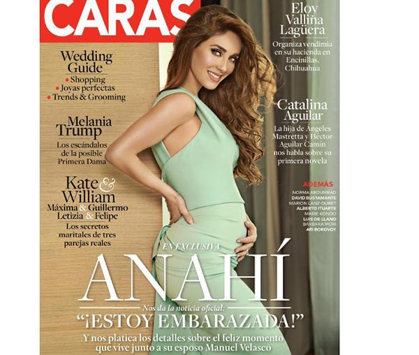 'Caras' dedica número al embarazo de Anahí y Manuel Velasco