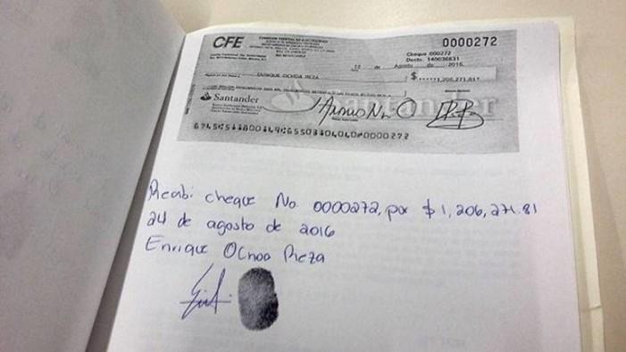 Exhiben acuse de recibo de liquidación millonaria del presidente del PRI