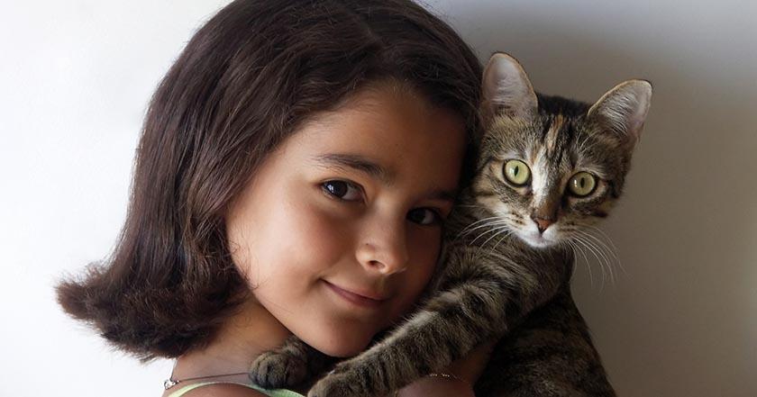 gatos transmisión de enfermedades a humanos niña gato