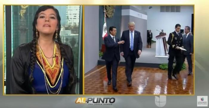 'Peña Nieto le faltó el respeto a la patria al invitar a Trump, el pueblo está molesto': Lila Downs