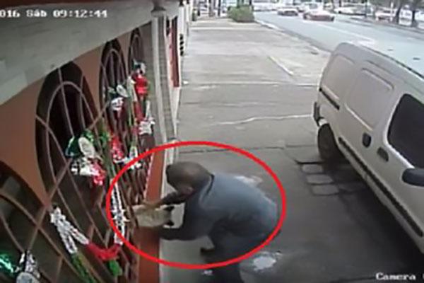 Denuncian en redes a hombre que robó perro por la ventana de una casa (video)