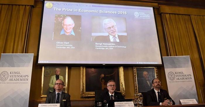 Anuncian a ganadores del Premio Nobel de Economía 2016