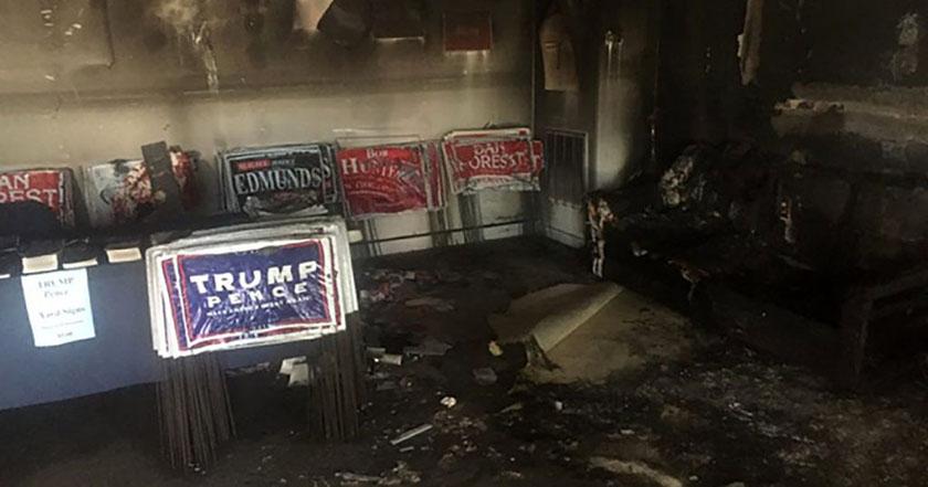 Vandalizan oficina del Partido Republicano en EE UU
