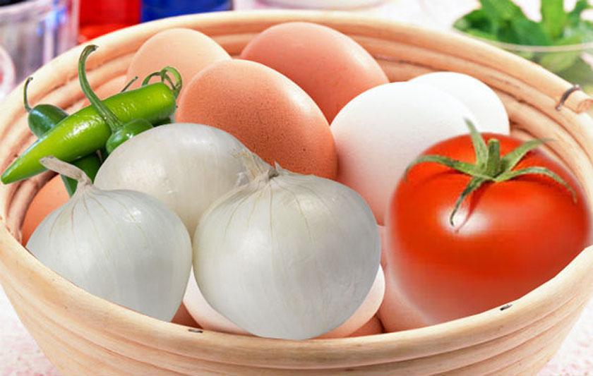 Huevos A la Mexicana canasta básica jitomate tomate