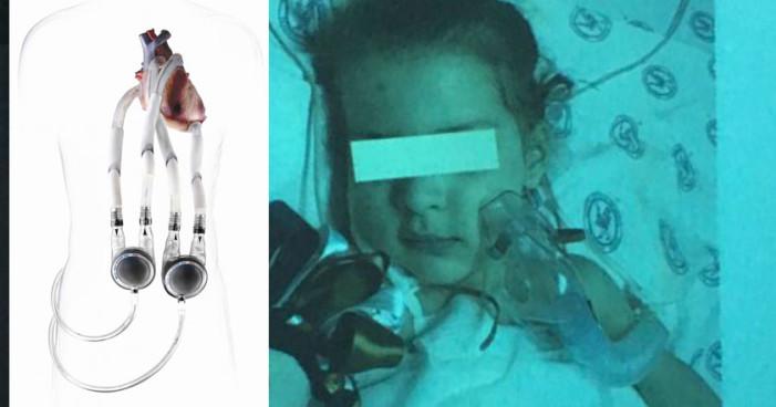 Niña de 4 años recibe primer implante de corazón artificial en México