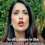 Salma Hayek invita a latinos a votar por Hillary Clinton (video)