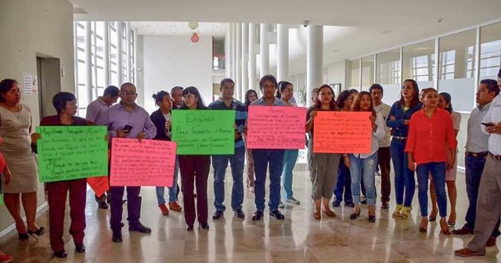 Trabajadores de Poder Judicial de Veracruz en huelga por falta de pagos