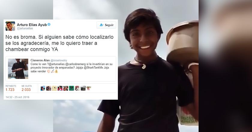 Yerno de Carlos Slim busca y ofrece trabajo al joven empanadero