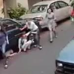 Demente atropella a varias personas y un perro