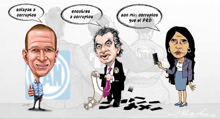 PRI, PAN y PRD se acusan mutuamente de ser corruptos