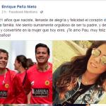 """Peña Nieto felicita en redes a su hija Paulina, la que no es parte de la """"prole"""""""